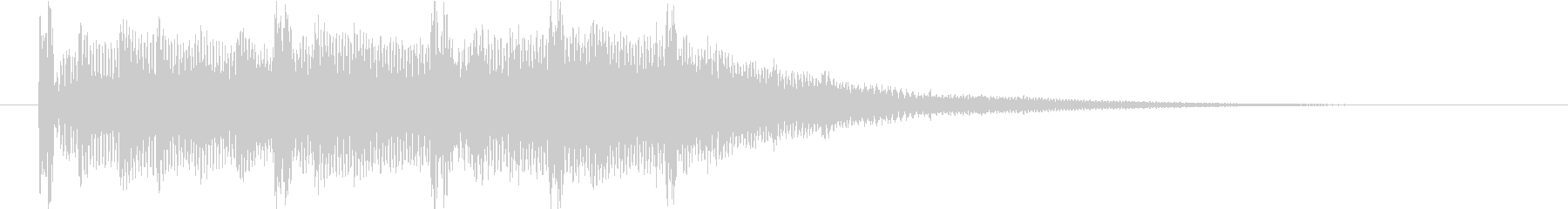 クリスタルデジタルな映像オープニングロゴの未再生の波形
