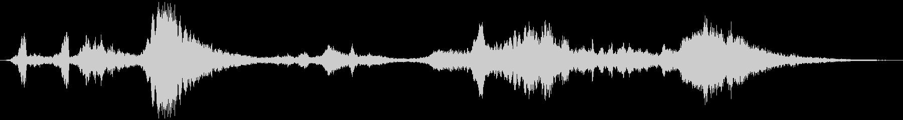 鋭い スクレープパッド01の未再生の波形