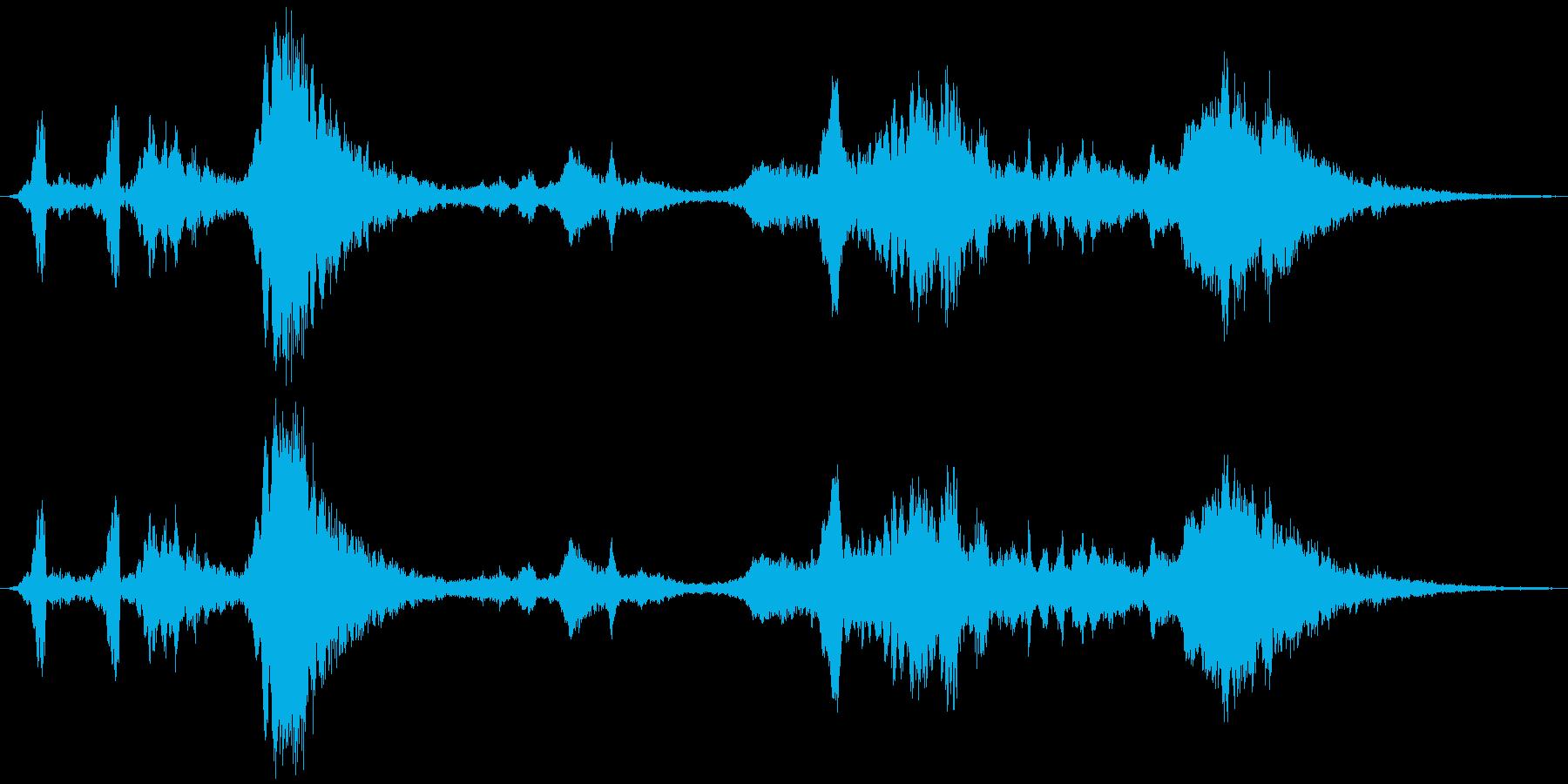鋭い スクレープパッド01の再生済みの波形