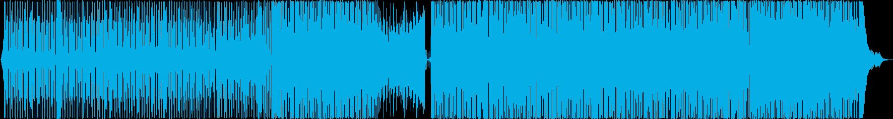 シンプルな4つ打ちミニマルテクノの再生済みの波形