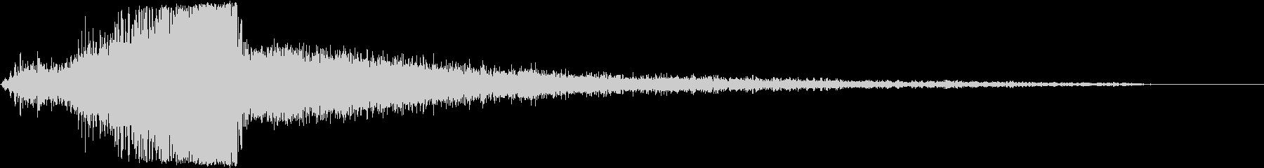 【タイトル】ダークな映像美に合うサウンドの未再生の波形
