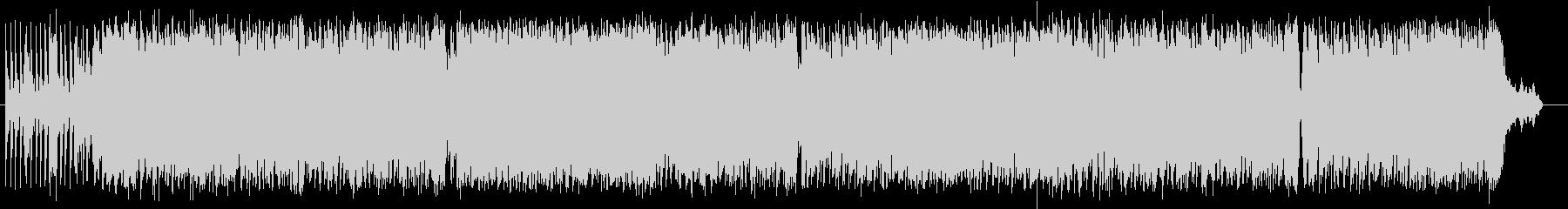 ドラムで始まる勢いのあるロックの未再生の波形