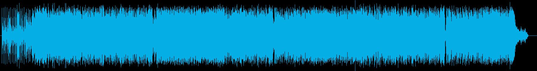ドラムで始まる勢いのあるロックの再生済みの波形