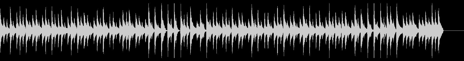 ウクレレと木琴のゆったりした曲の未再生の波形