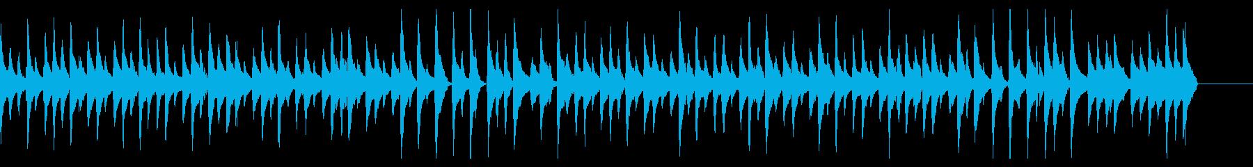 ウクレレと木琴のゆったりした曲の再生済みの波形