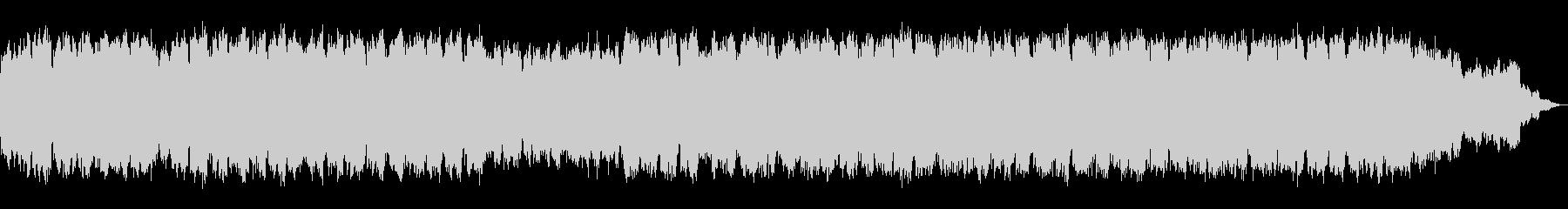 静かなシンセサイザーと笛の即興のBGMの未再生の波形