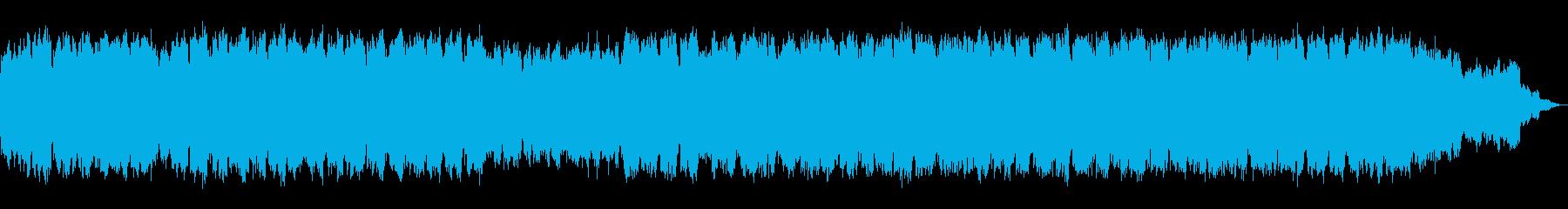 静かなシンセサイザーと笛の即興のBGMの再生済みの波形