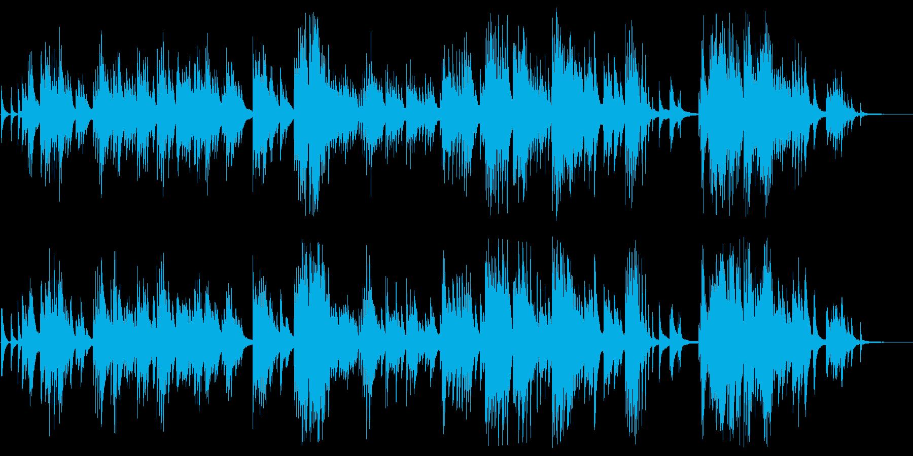 悲しみを感じる大人のソロピアノBGMの再生済みの波形