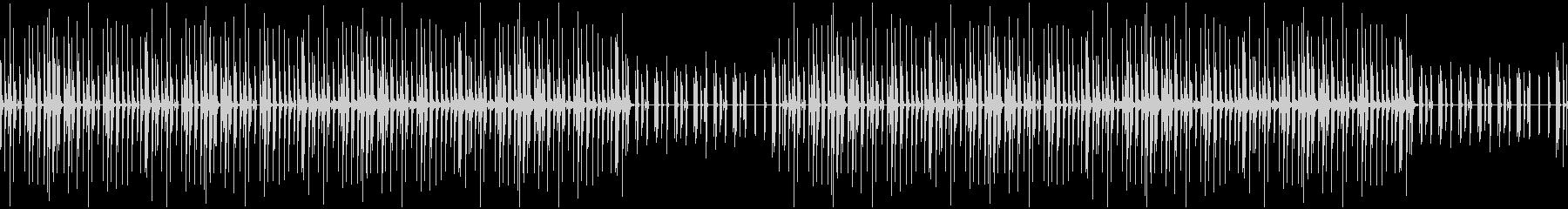 ホップしたくなるかわいい木琴BGMの未再生の波形