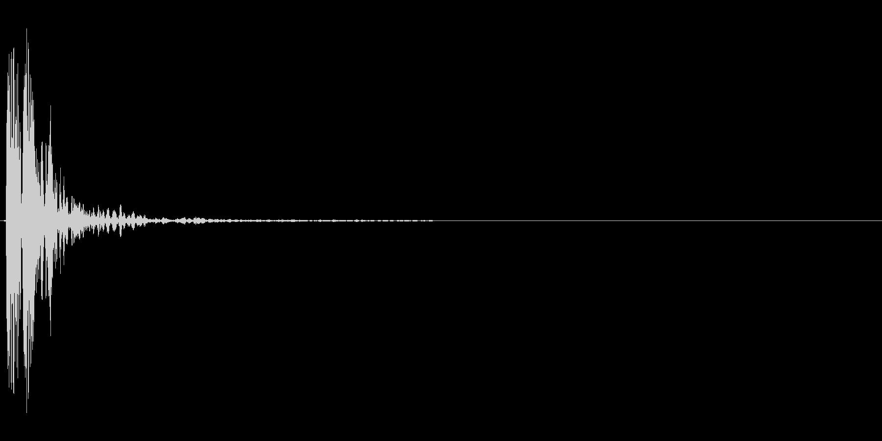 木へのhopチョップ、ブレードバウンスの未再生の波形