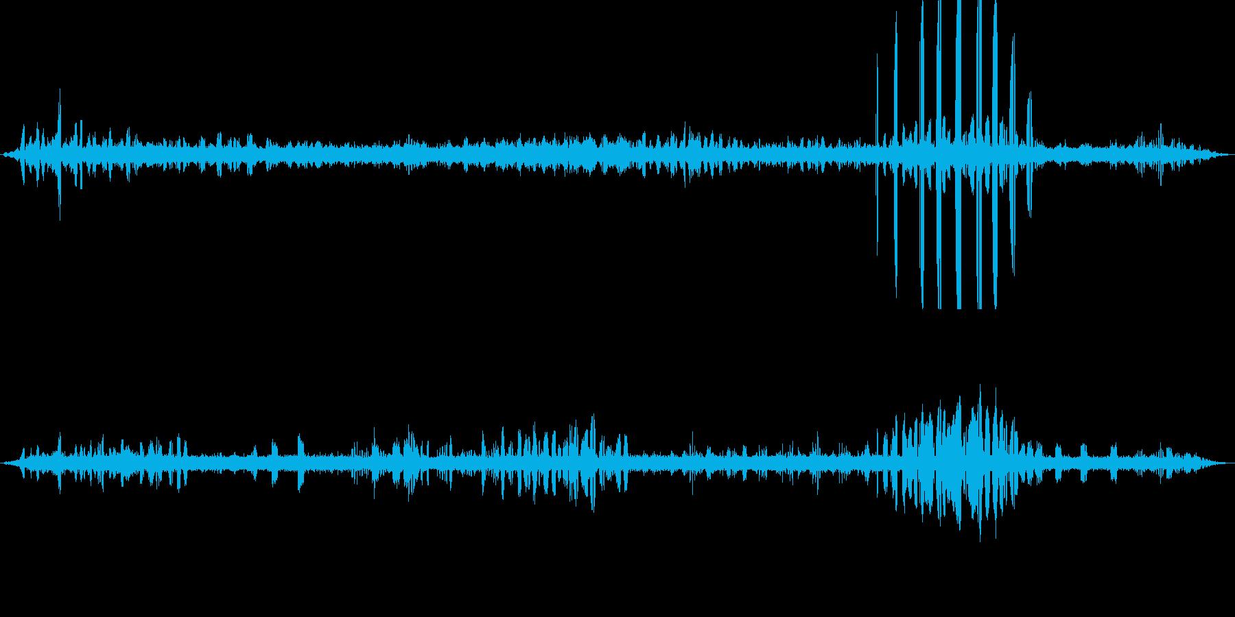 【自然音】朝の棚田01(栃又)の再生済みの波形