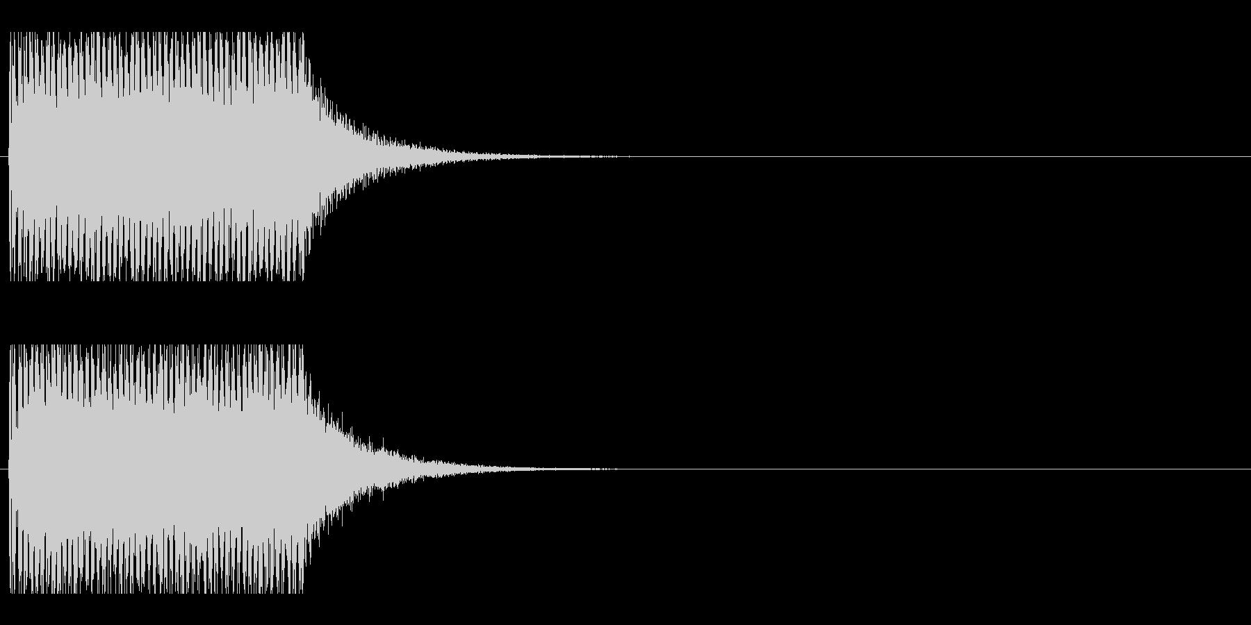 レーザー音-153-1の未再生の波形