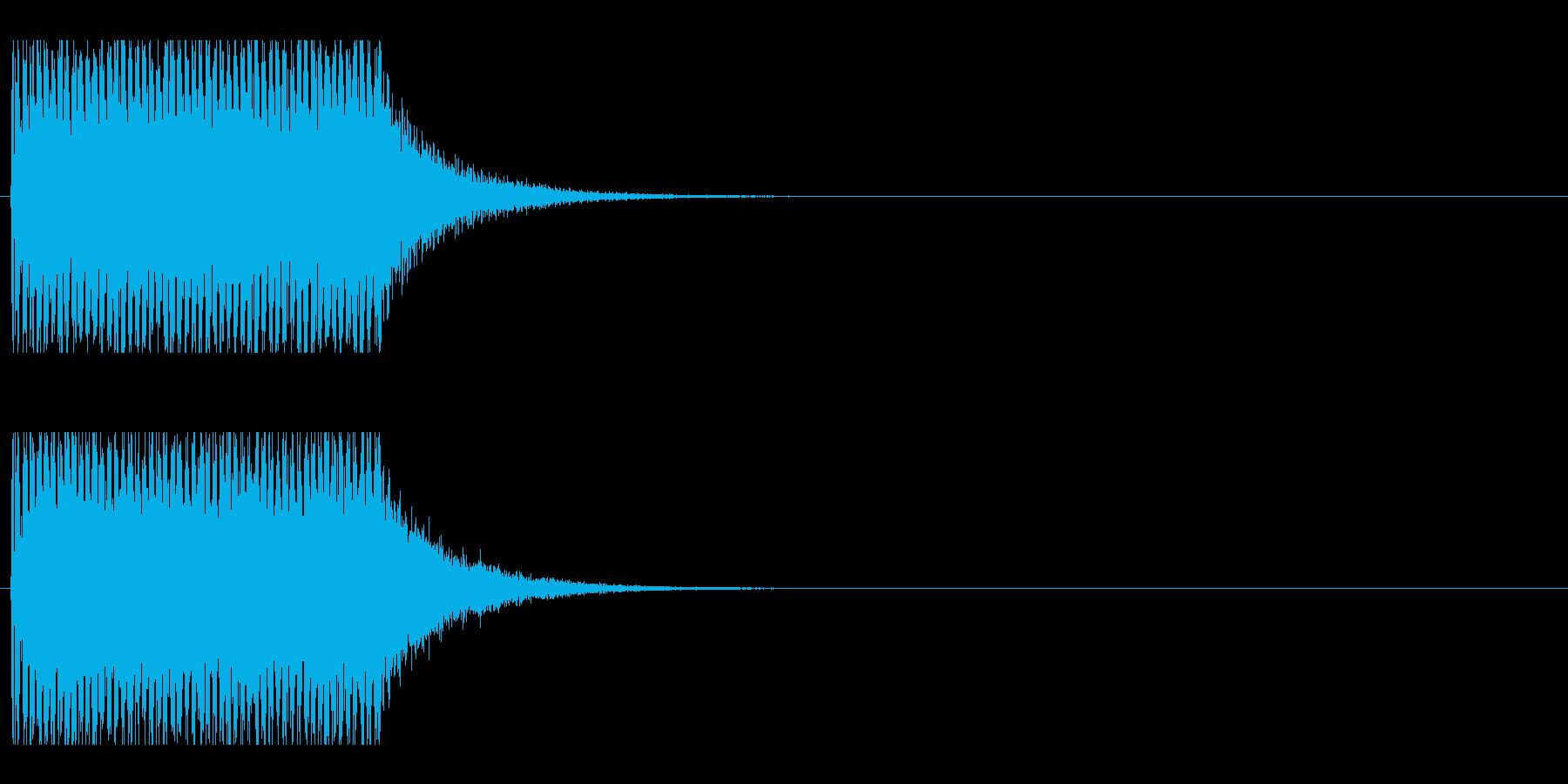レーザー音-153-1の再生済みの波形