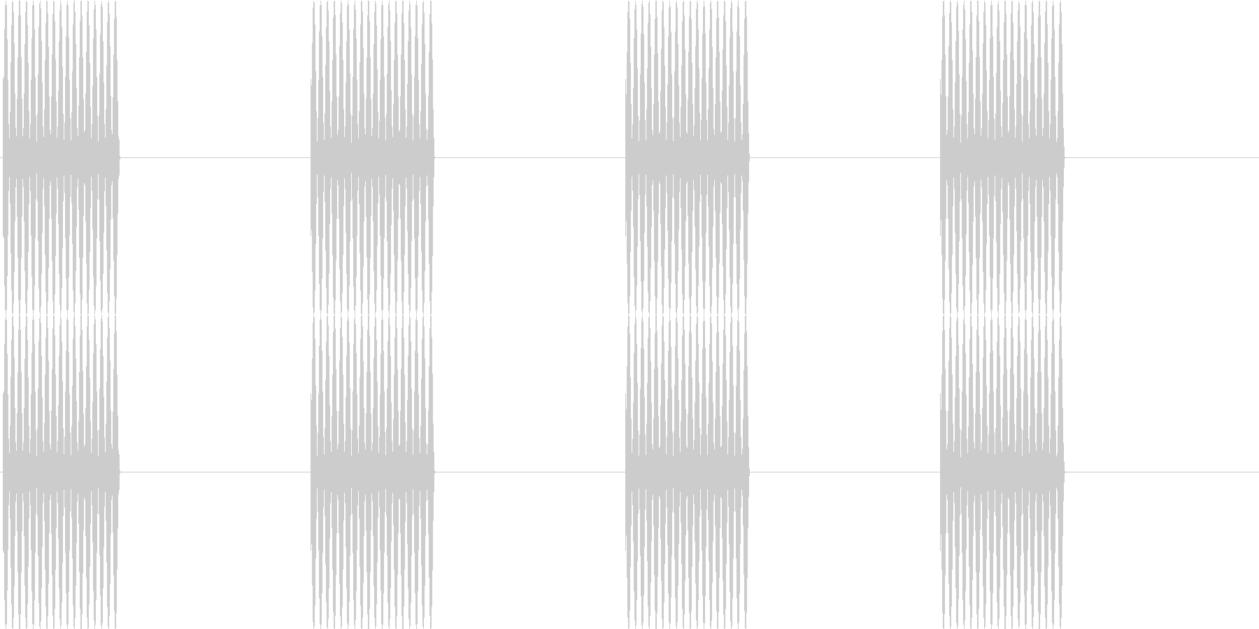 プルルルル…(電話の呼び出し音)の未再生の波形
