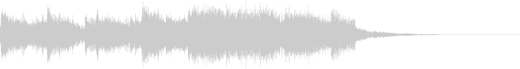 ピアノ中心のオリエンタルなジングルの未再生の波形