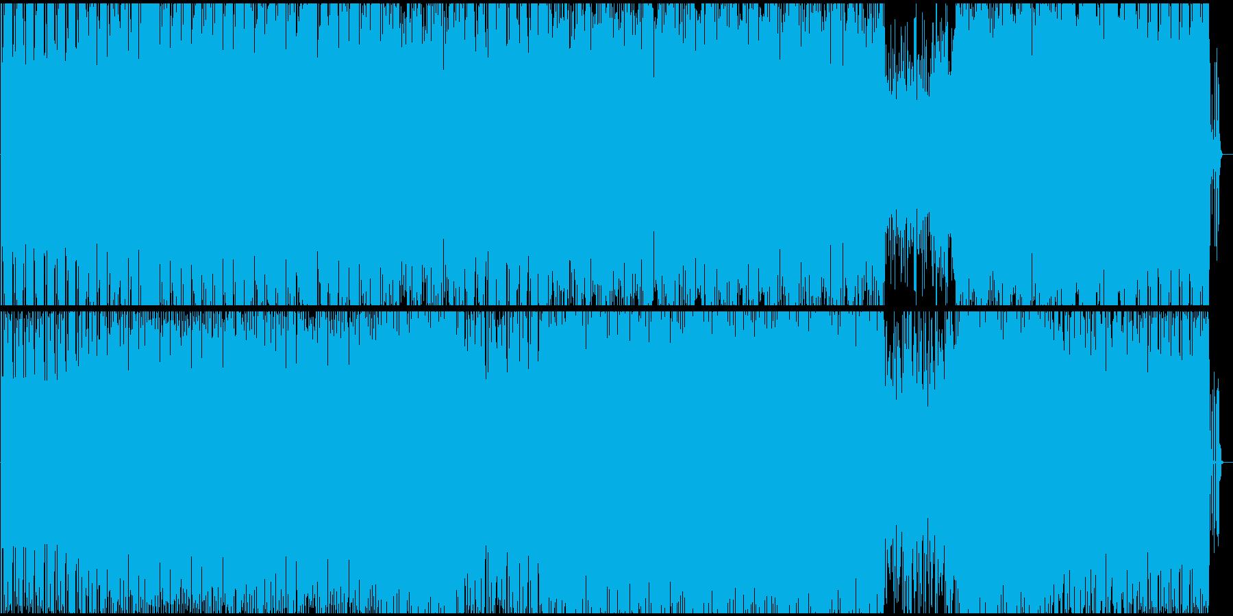 機械的でパワフルな爽快感のあるテクノの再生済みの波形