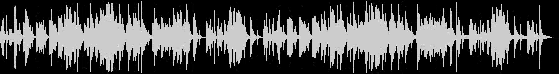ゆったりした雰囲気のシンプルなチェレスタの未再生の波形