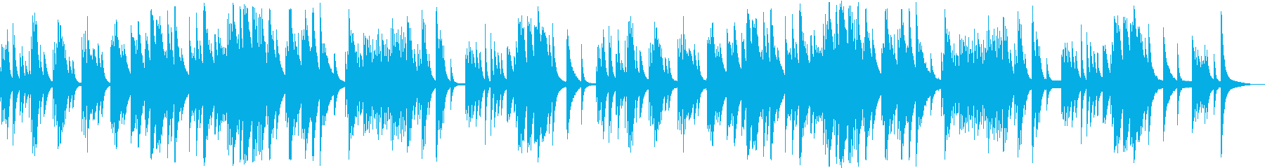 ゆったりした雰囲気のシンプルなチェレスタの再生済みの波形