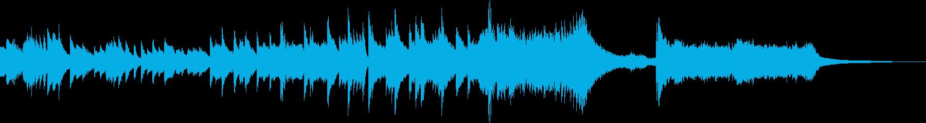 ピアノの印象的で感傷的なショートバラードの再生済みの波形