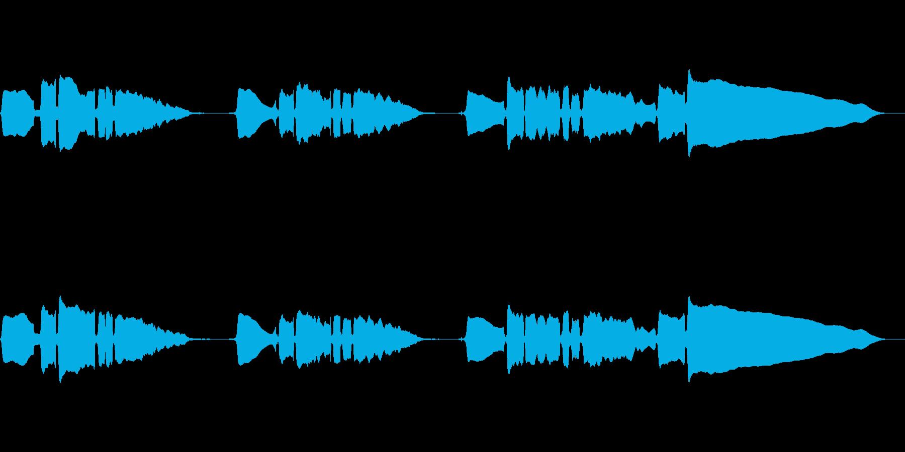 サックスのソロ演奏の再生済みの波形
