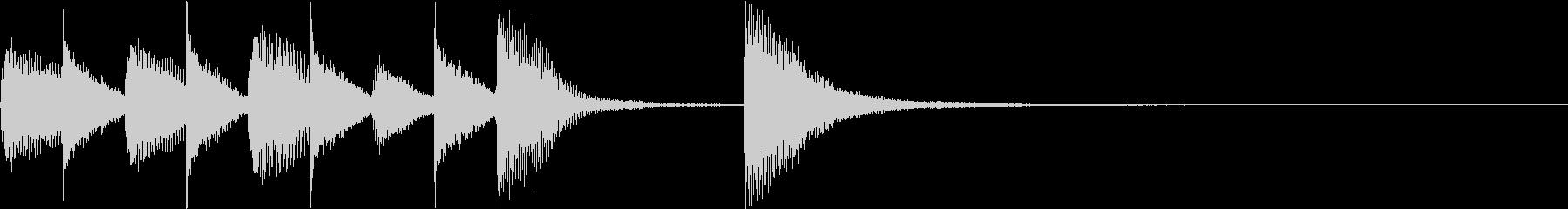 ピアノジングル 幼児向けアニメ系F-02の未再生の波形