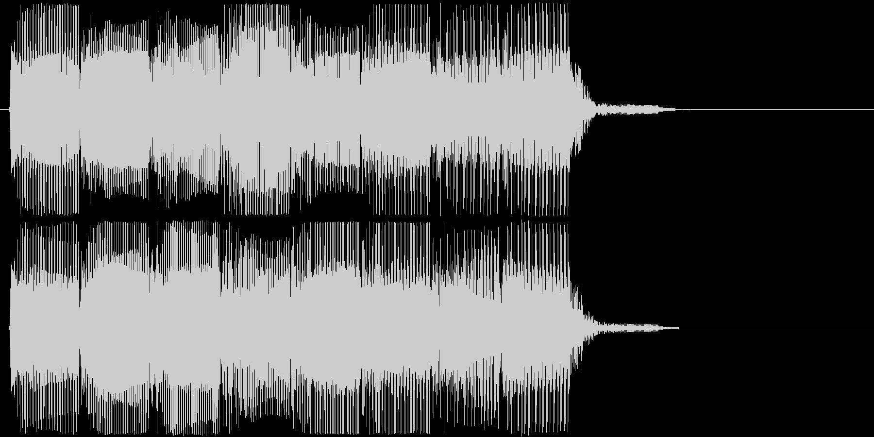 高音版 レトロなフレーズ ゲームオーバーの未再生の波形
