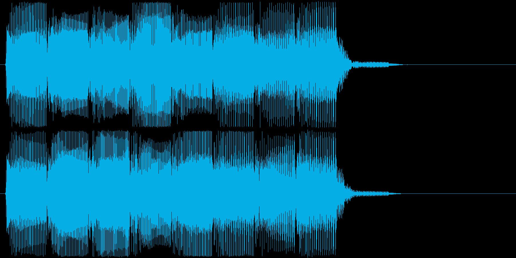 高音版 レトロなフレーズ ゲームオーバーの再生済みの波形