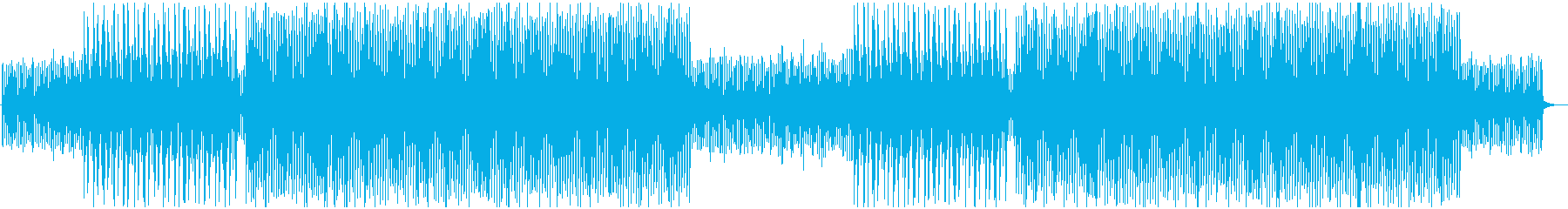 シンセの無機質で緊張感のある4つ打ちの再生済みの波形
