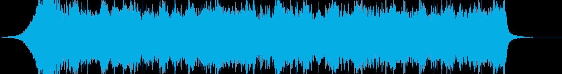 壮大なイメージの感動的な和風オーケストラの再生済みの波形
