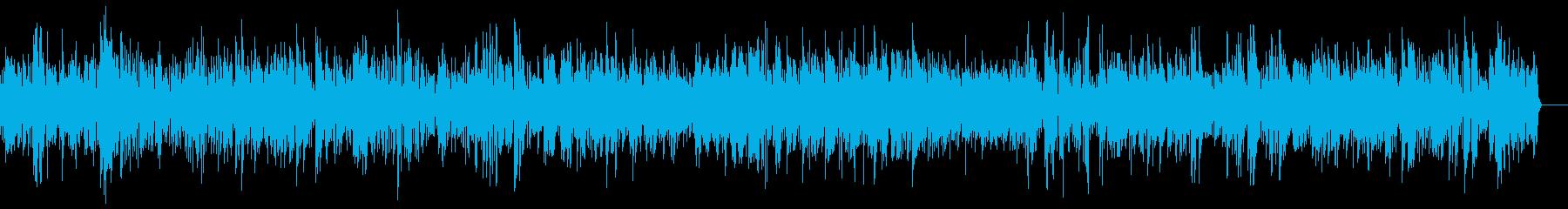 テナーサックス主役の曲の再生済みの波形