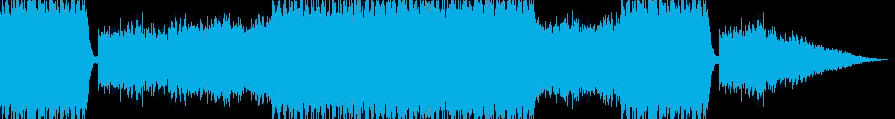 不穏な空気の中での戦闘BGMの再生済みの波形