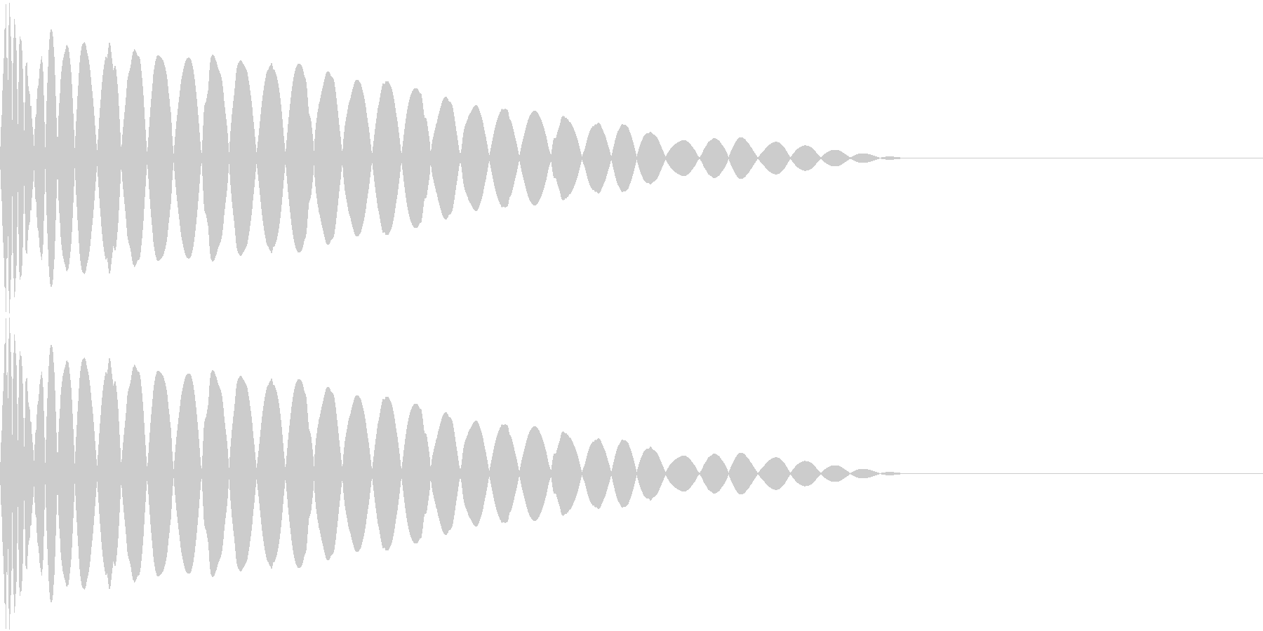 DTM Kick 93 オリジナル音源の未再生の波形