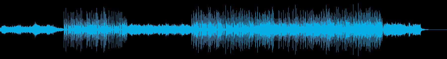 シンセのデモみたいな音楽の再生済みの波形