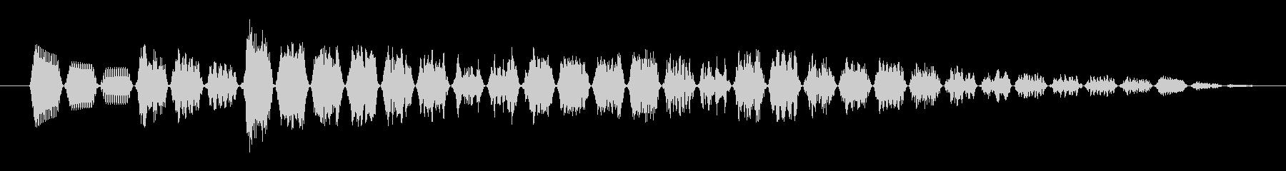 KANT近未来アラームサウンド242の未再生の波形