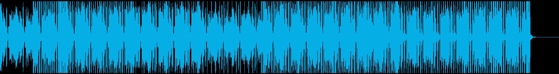 明るく軽快な雰囲気のBGMの再生済みの波形