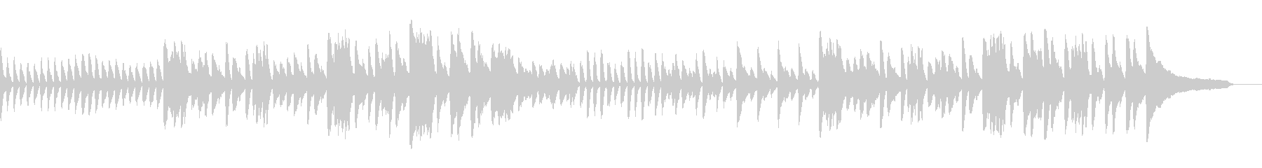 スタイリッシュであたたかい空間なピアノ曲の未再生の波形