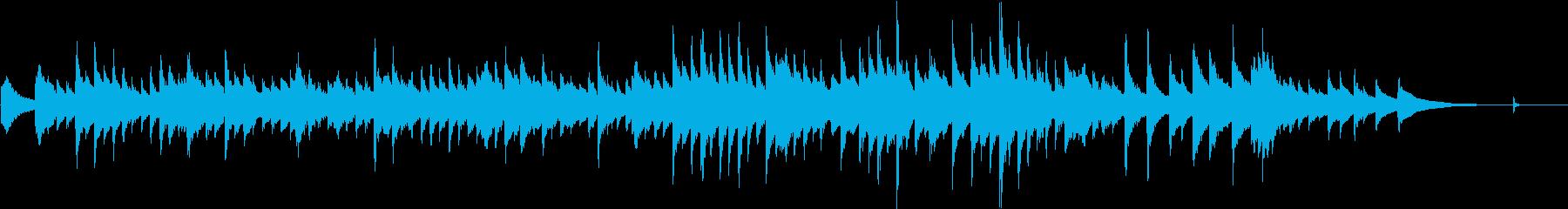 ゆったりな雰囲気のギター曲の再生済みの波形