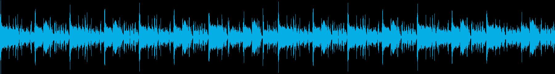 疾走感のあるアップテンポなループBGMの再生済みの波形