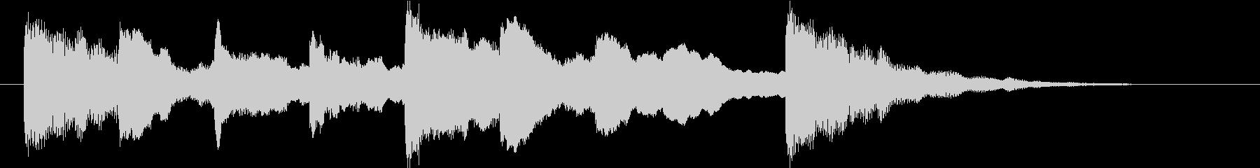 幻想的・未来的な映像オープニングロゴの未再生の波形