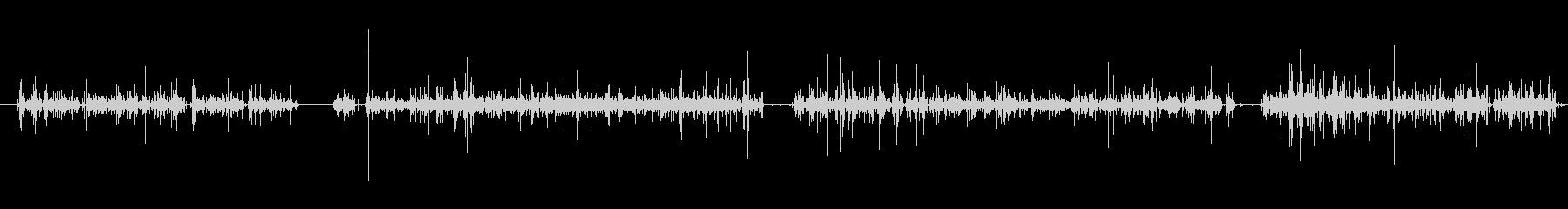 ガリガリ(コーヒー豆をミルで挽く音)の未再生の波形