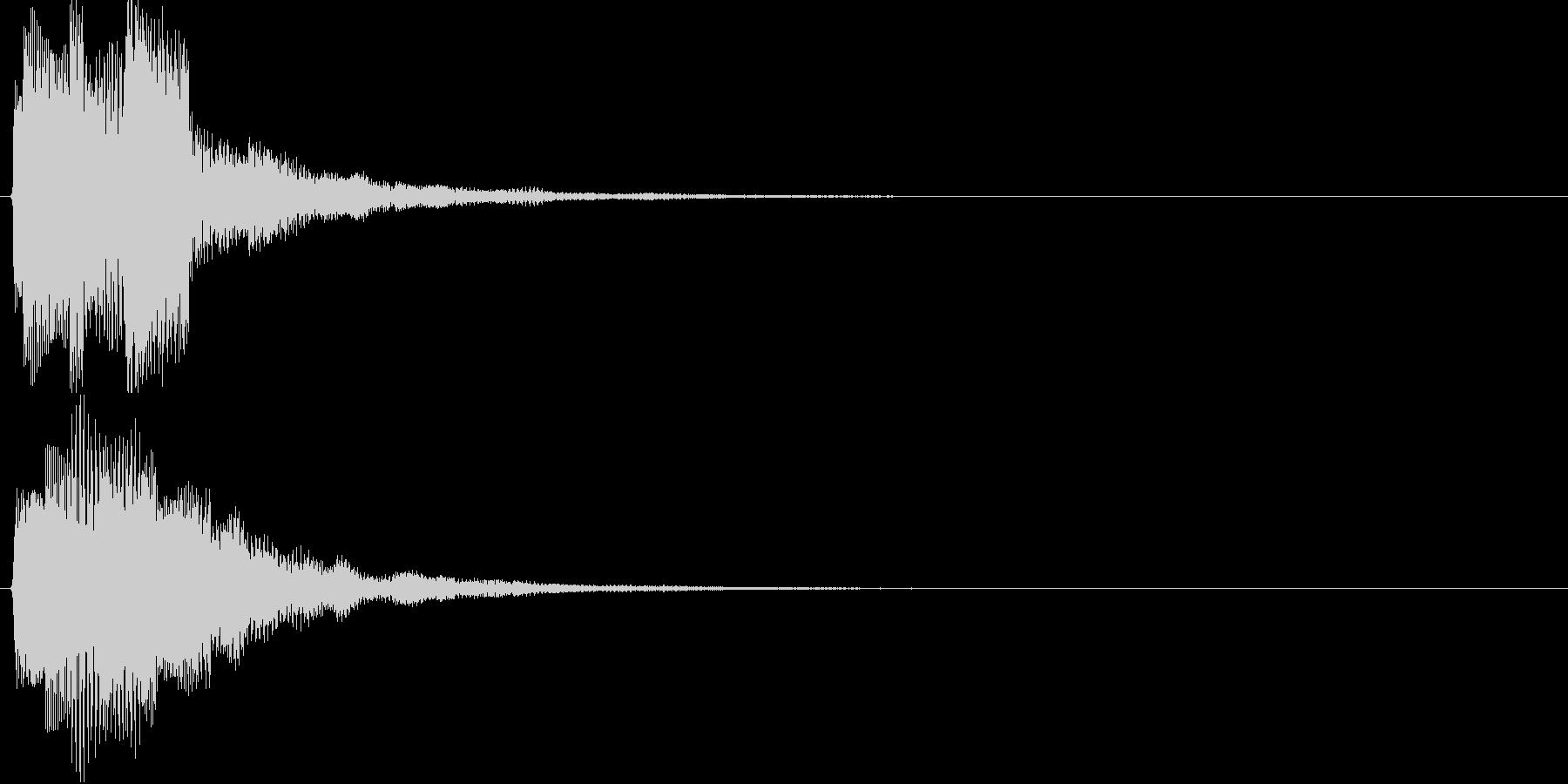 チャリラン(お知らせアラート音シンプル)の未再生の波形