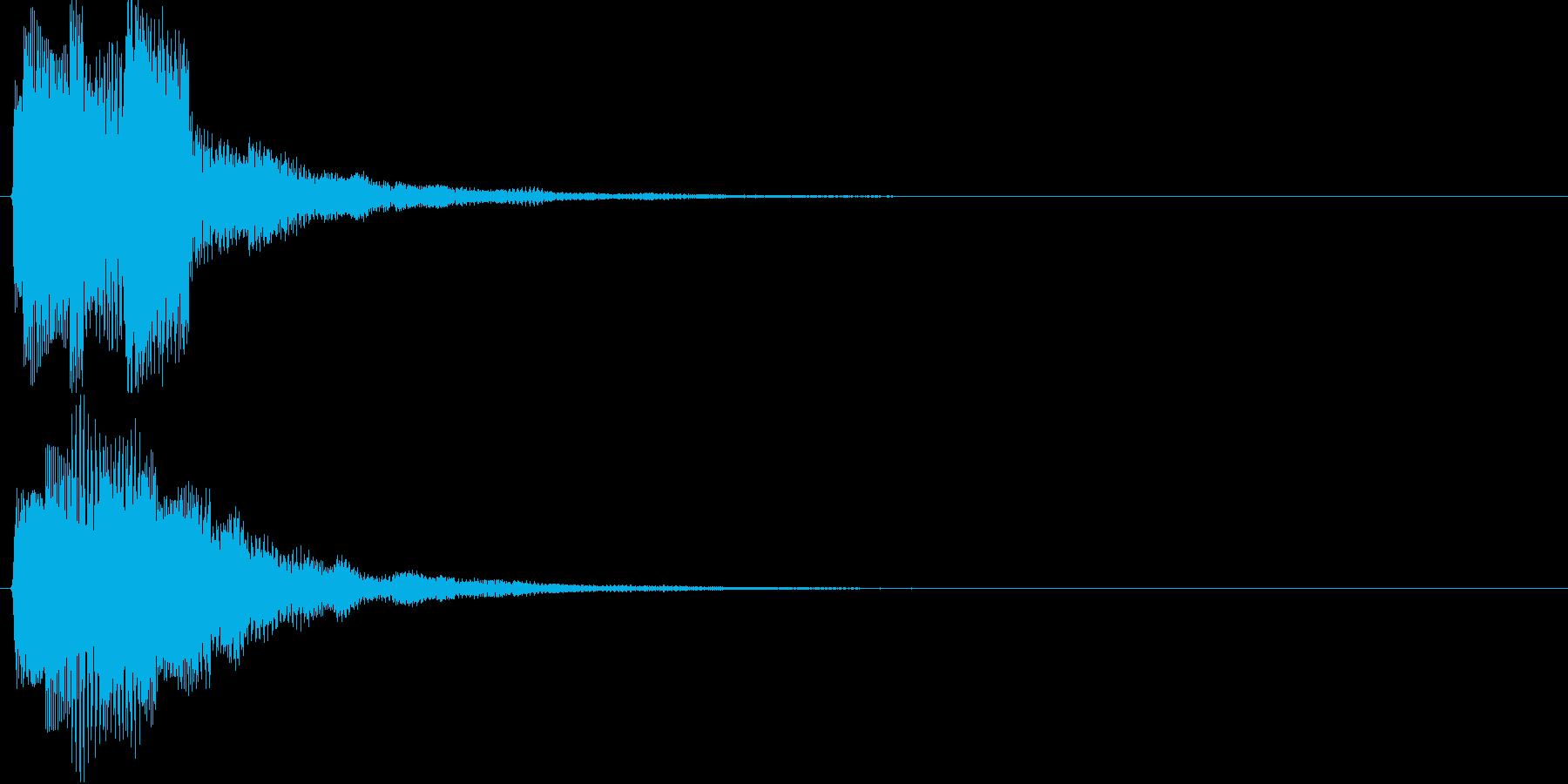 チャリラン(お知らせアラート音シンプル)の再生済みの波形