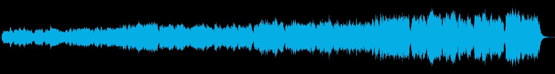 古いレコードから流れる聖堂の讃美歌演奏の再生済みの波形