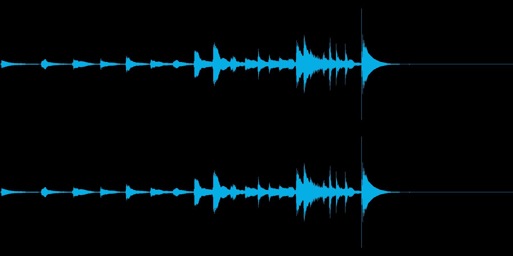 生演奏 琵琶 武士 和風 古典風#16の再生済みの波形