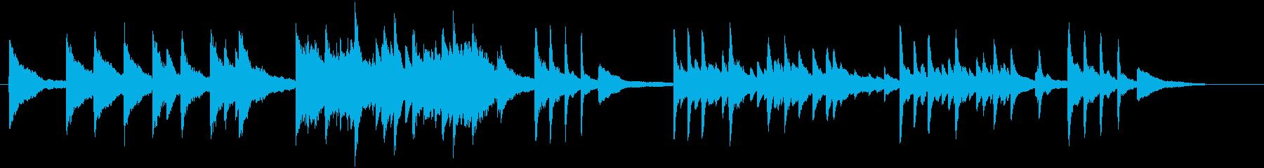 静かな景色の映像をイメージしたピアノ曲の再生済みの波形