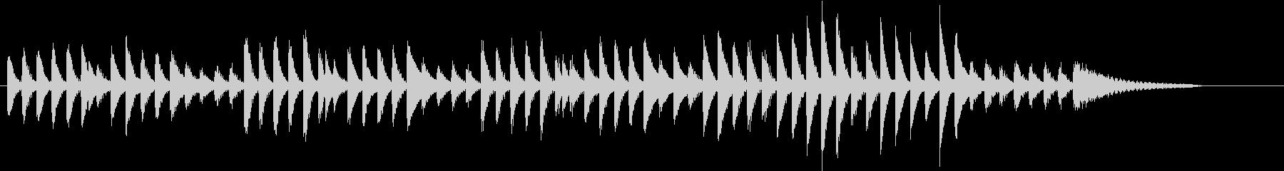 可愛く弾み踊る冬のトキメキピアノジングルの未再生の波形