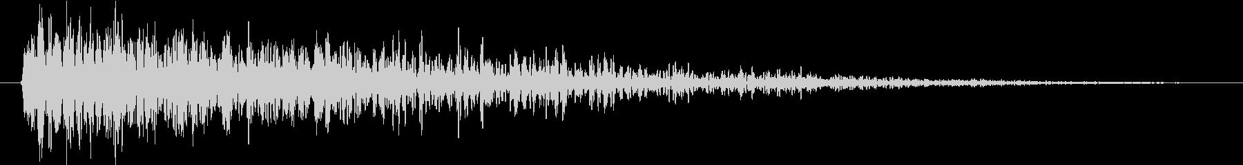 衝撃 インパクトヒット01の未再生の波形