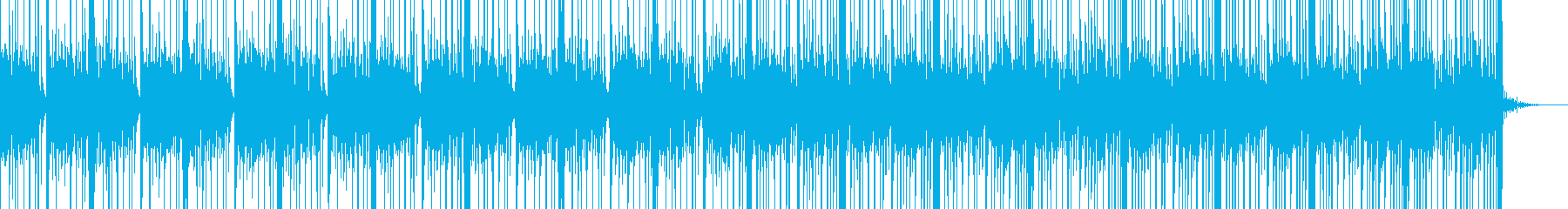 民族楽器で構成したアジアンテイストな楽曲の再生済みの波形