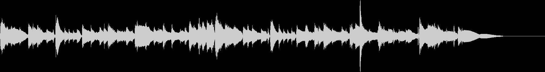 ギターによる40秒程度の短曲の未再生の波形