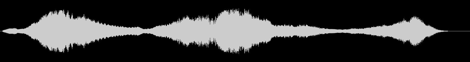 ヒューンヒューン(UFOが浮遊する音)の未再生の波形